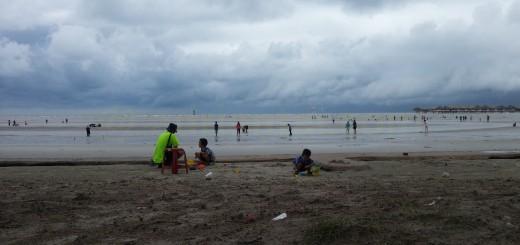 Fun at Bagan Lalang beach
