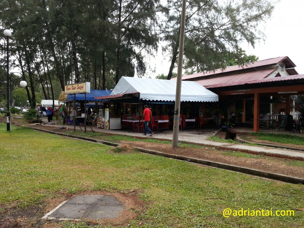 Food stalls at Bagan Lalang