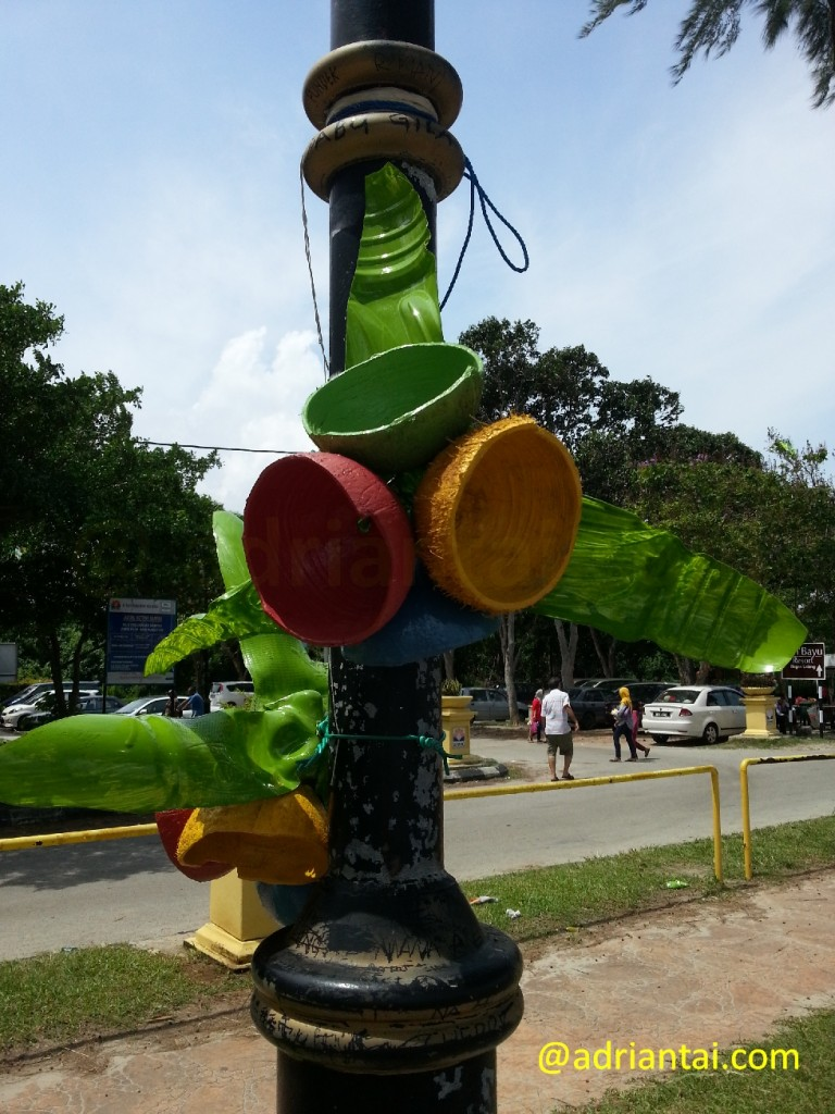 Flower made of recycled materials
