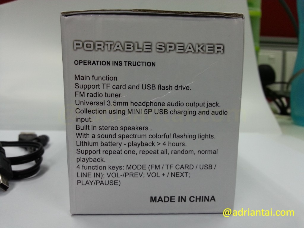 The C65 Bluetooth speaker's operating instructions