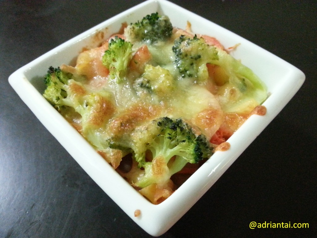 Home-made baked pasta