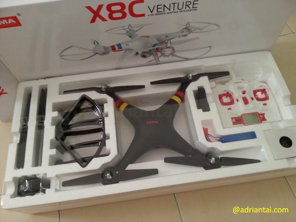 Syma X8C Venture unboxed