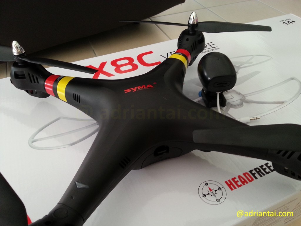 Close up of Syma X8C Venture