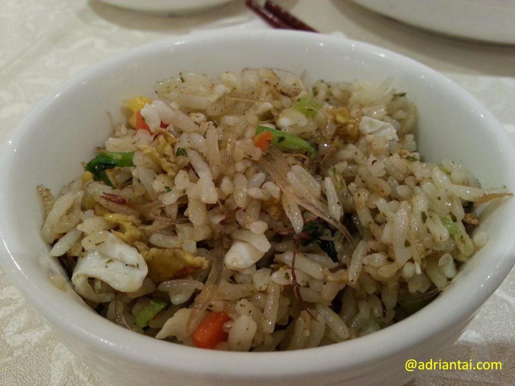 Fried rice at Gaia Veggie Shop, Hong Kong