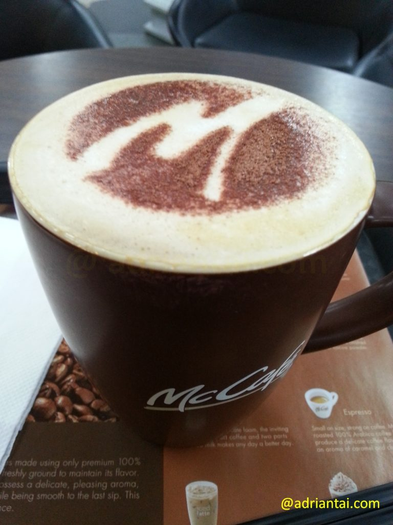 McCafe Cappuccino at KLIA