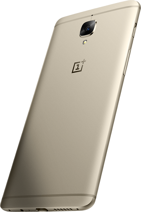 Back of OnePlus 3 (Gold)