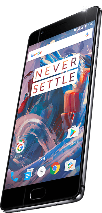 Front of OnePlus 3 (Graphite)