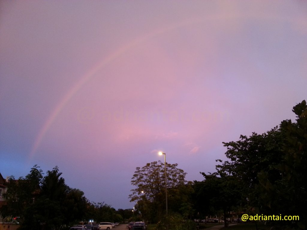 Rainbow in the evening