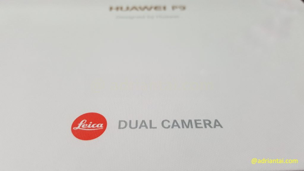Huawei P9 box with Leica branding