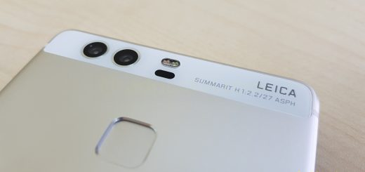 Leica branding on Huawei P9