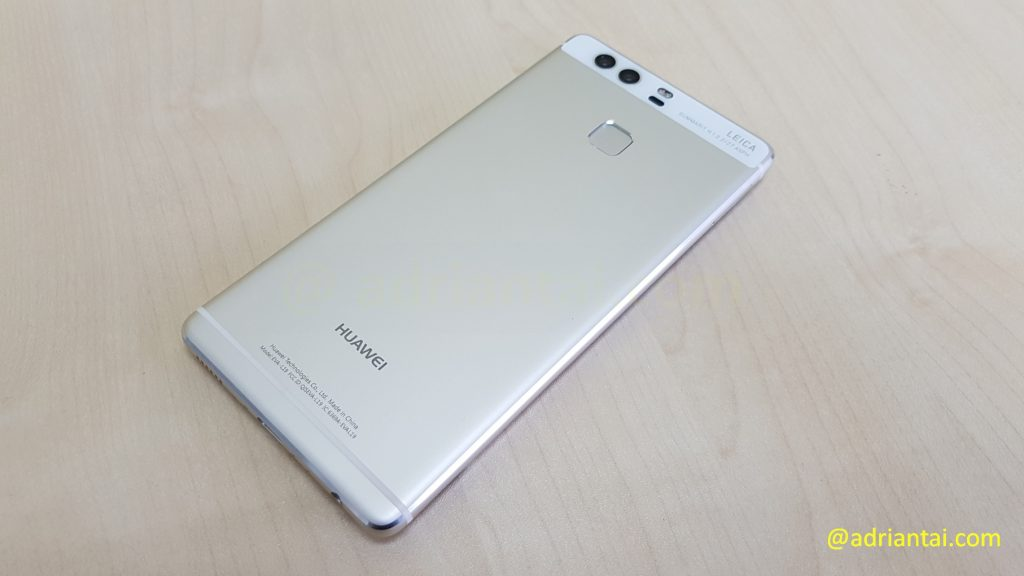 Back of Huawei P9