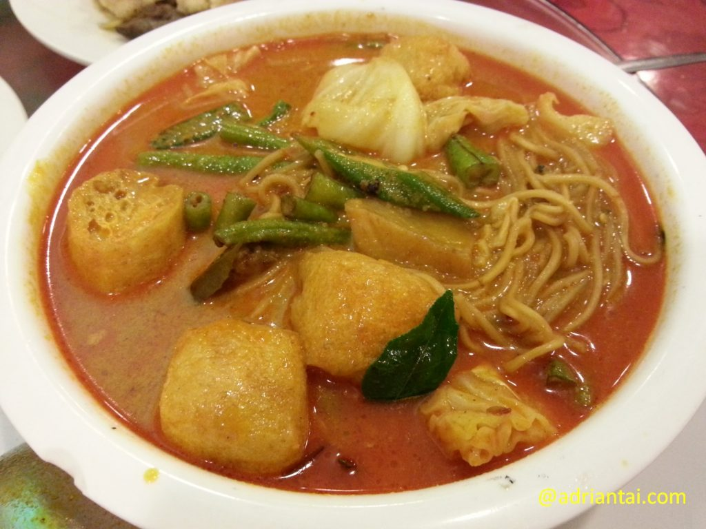 Curry noodles at Great Nature, Klang