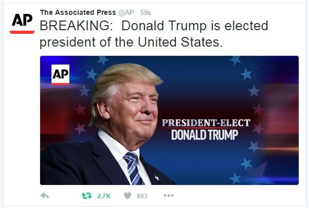 Screenshot of Trump as POTUS credit AP