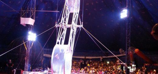 Circus balancing act